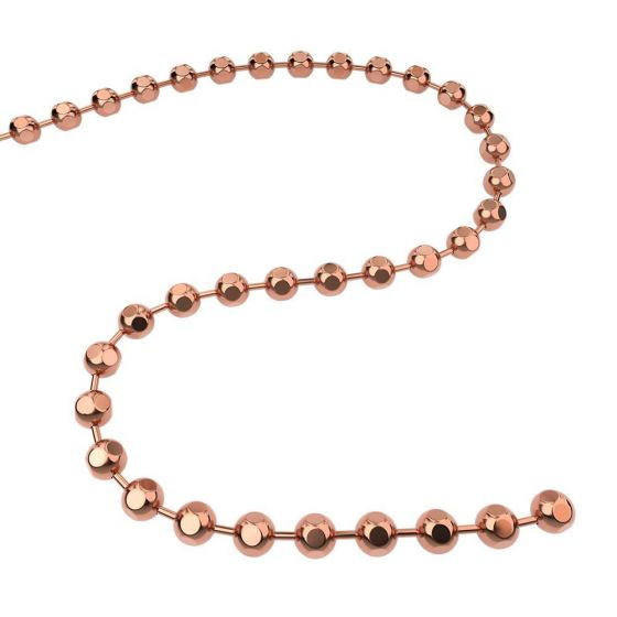 Q-Link Brand Faceted Chain Copper 30''