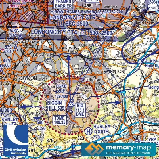 CAA VFR 1:250,000 Charts-West & South Wales