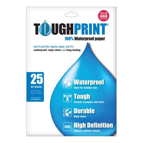 Toughprint Waterproof Paper-A4-Laserjet-25 Sheets