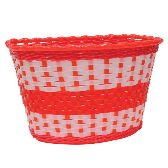 Oxford Junior Woven Basket-Red (590-BK140R)