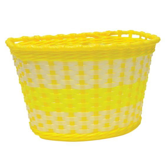 Oxford Junior Woven Basket-Yellow (590-BK140Y)