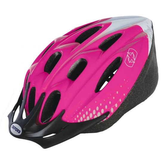 Oxford F15 Helmet Pink/White Medium 54-58cm