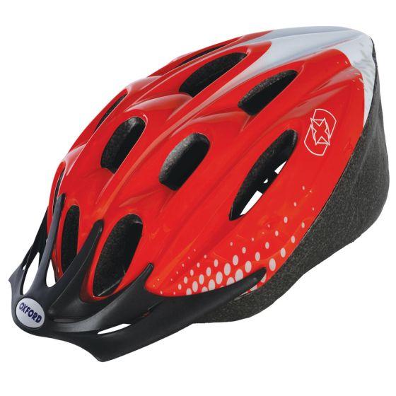 Oxford F15 Helmet Red/White Medium 54-58cm