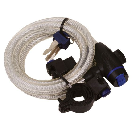 Oxford Cable Lock 1.8m/72'' x 12mm Clear