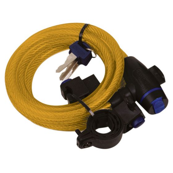 Oxford Cable Lock 1.8m/72'' x 12mm Gold