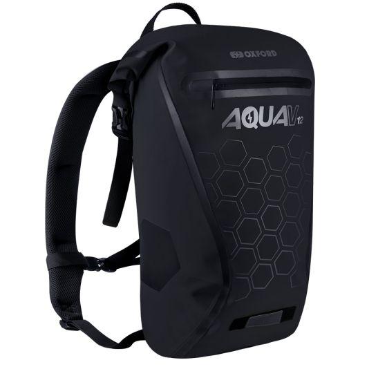 Oxford Aqua V12 Backpack Black Hexagons