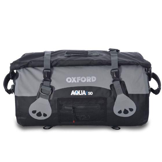 Oxford Aqua T 50 Waterproof Roll Bag-Black/Grey