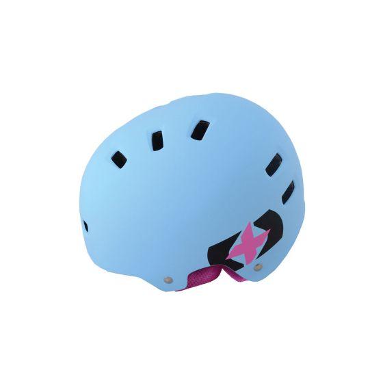 Oxford Urban Helmet Blue Pink Strap 53-59cm