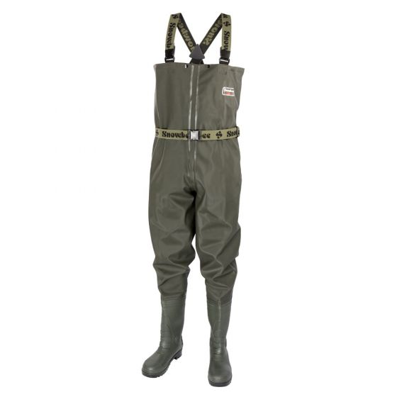 Snowbee_Men_Granite_Pvc_Chest_With_Cleated_Sole_Wader_-_Olive_Green,_Size_11