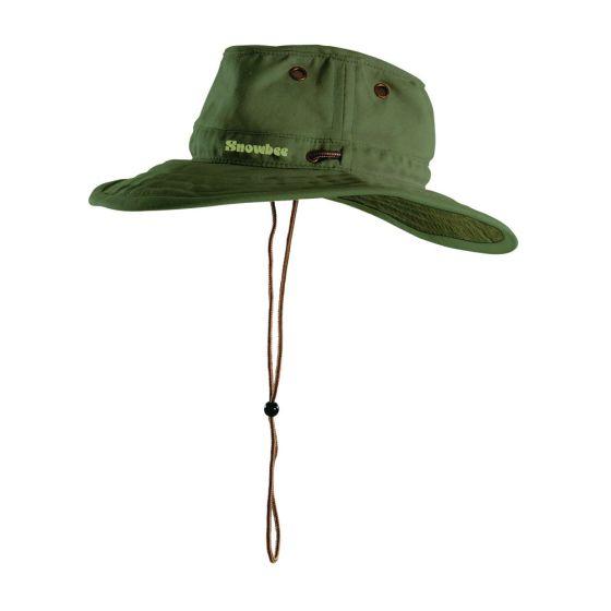 Snowbee Ranger Wide Brim Hat-Green S - (735-13257G-S)