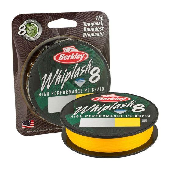 Berkley Whiplash 8 Braid - Yellow-300m-0.10mm