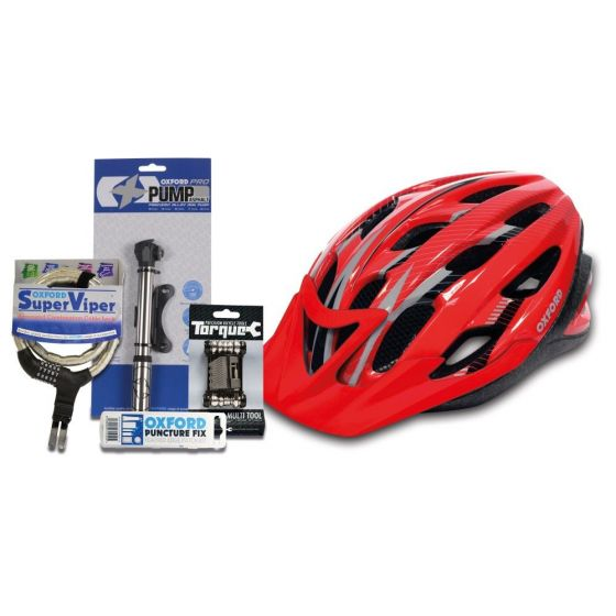 Oxford Adult Cycle Bundle - S/M - Red