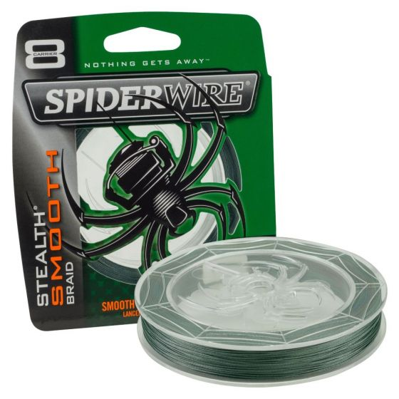 Spiderwire Smooth 8 Braid Moss Green Fishing Line-0.17 mm-300 m