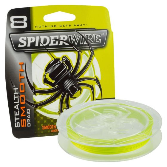 Spiderwire Smooth 8 Braid Yellow Fishing Line-300 m-0.17 mm
