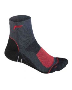 F-Lite Women's Merino Mtbike High Socks - Anthracite/Red
