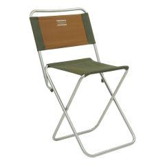 Shakespeare Folding Backrest Stool - Brown/Green