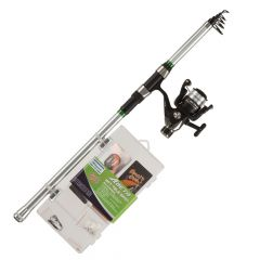 Shakespeare Catch More Fish 2 Telescopic 0.7/2.1oz, 8ft Spinning Rod Combo