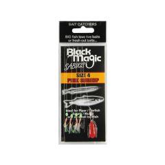 Black Magic Shrimp Hooks (Pack of 10)-Size 4: Piper/sprat/garfish/mullet (054-BMPS04)