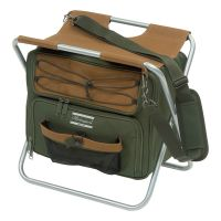 Shakespeare Folding Stool With Cooler Bag - Brown/Green