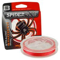 Spiderwire Smooth 8 Braid Red Fishing Line