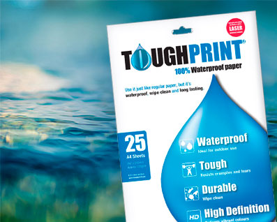 Toughprint waterproof paper