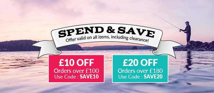Spend and Save on Fishing equipment