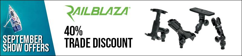 Railblaza 40% trade discount