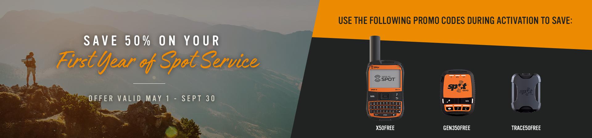 Save 50% on Spot service plans
