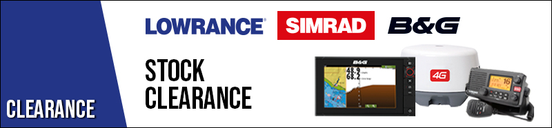 Lowrance, Simrad and B&G stock clearance