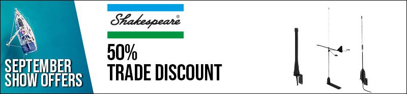Shakespeare 50% trade discount