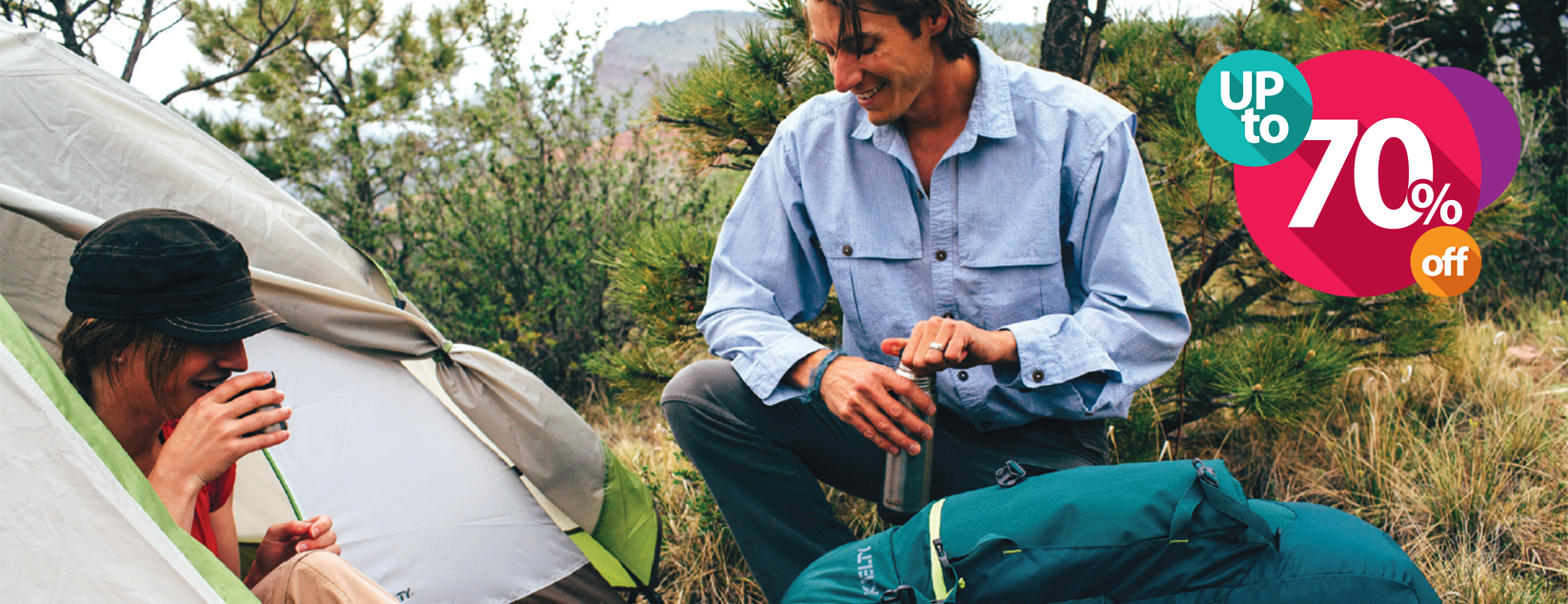 Camping Clearance Sale, save up to 70%